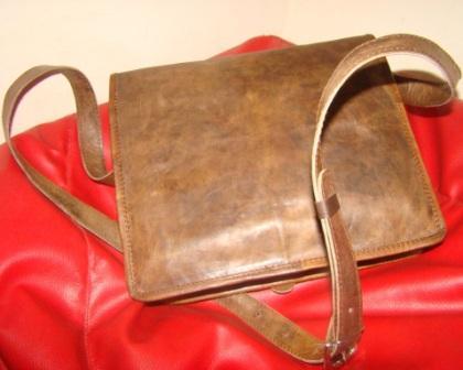 Leather Satchel Bag - Leather Satchel Bag with Magnet Closer