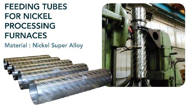 Feeding tube - Cement & mining industry - nickel processing furnaces