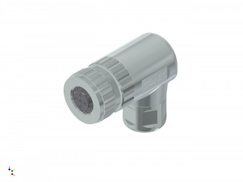 Connectors M12x1, screw termination - Industrial Ethernet Connectors M12, field attachable, angled, screw termination