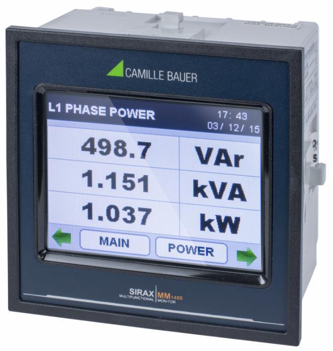 SIRAX MM1400 - Indicateur avec écran TFT
