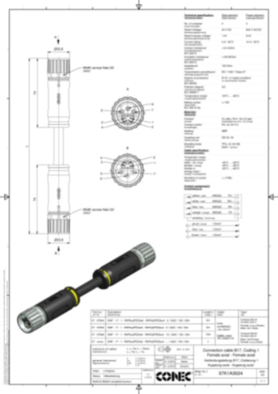 B17 Hybrid Steckverbinder umspritzt - CONEC SuperCon® Hybridsteckverbinder umspritzt Baugröße B17