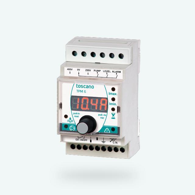 TPM6 - Protección para motores y bombas, sobrecarga, bajacarga, fallo de fase, nivel