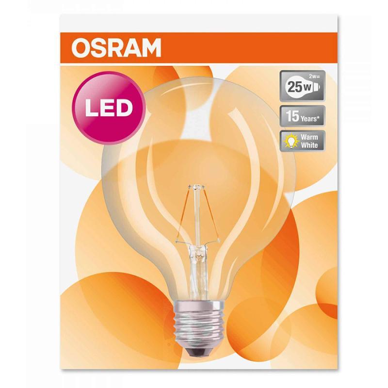 E27 2 W 827 LED globe lamp Retrofit - light-bulbs