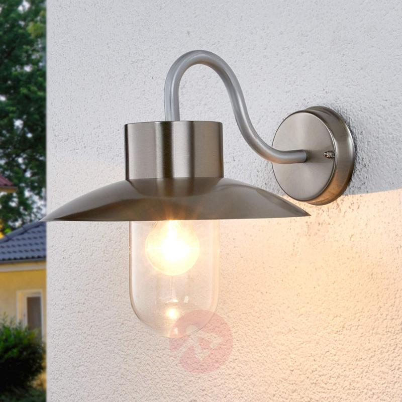 nordic lighting. Nordic-looking Outdoor Wall Light Leenke - Stainless-steel-outdoor-wall- Nordic Lighting
