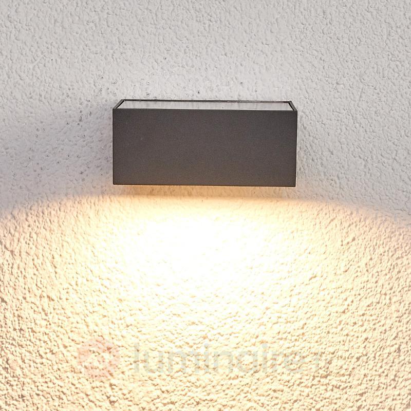 Applique d'extérieur LED solaire Mahra, détecteur - Lampes solaires avec détecteur
