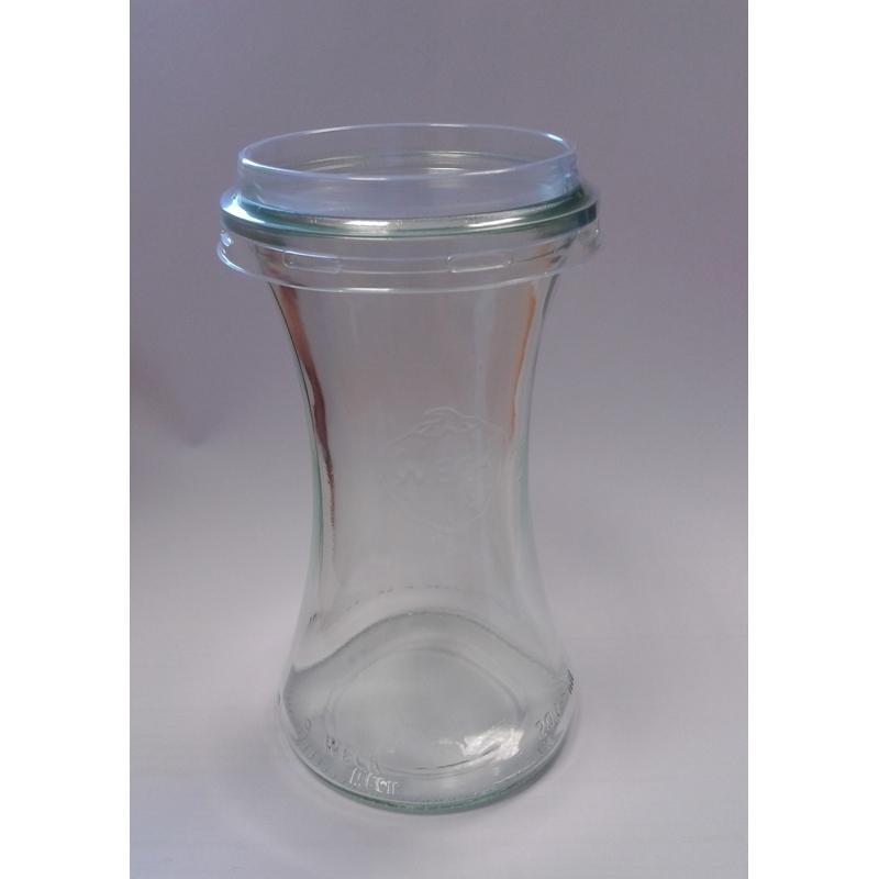 Accessoires WECK® - 24 Coiffes diamètre 60 mm en plastique transparent PET pour bocal WECK