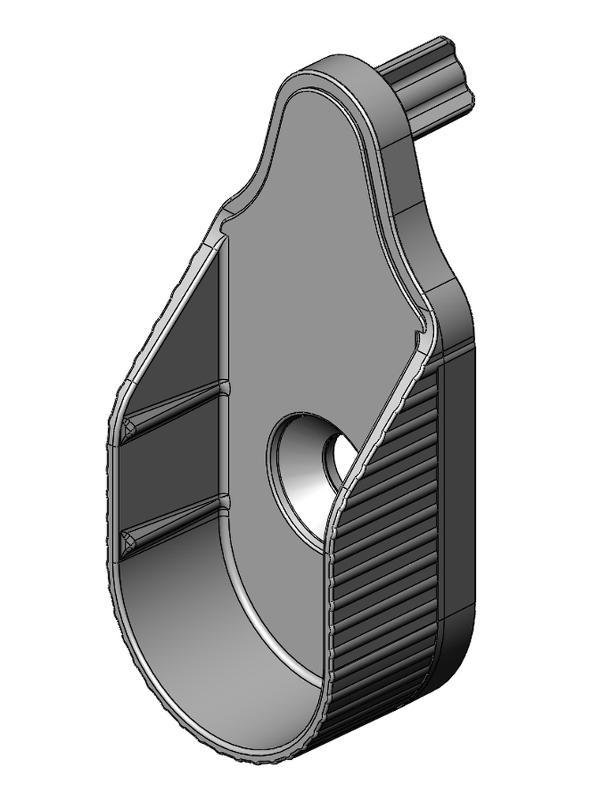 Schrankrohrlager - Zamak - 5mm - 2 Zapfen economy - blank - Schrankrohrlager
