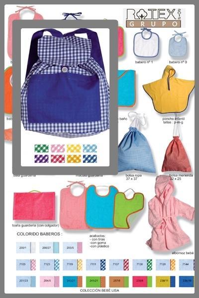 Macuto y petates para guarderias - Bolsa de guarderia para niños en varios colores