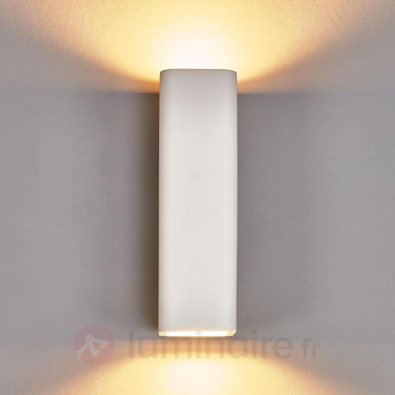 Norwin - applique rectangulaire en plâtre, 2 l. - Appliques en plâtre