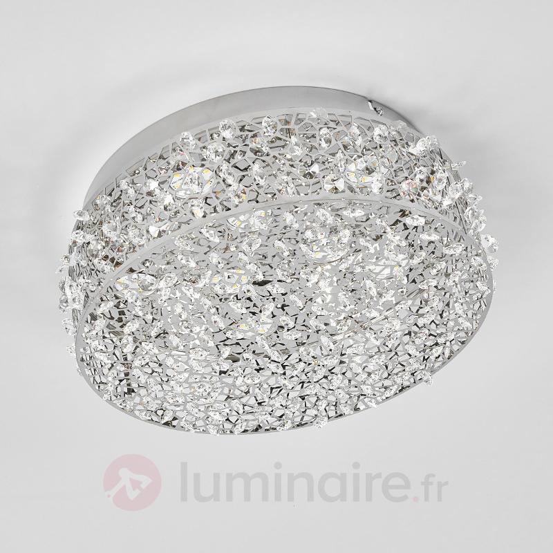 Plafonnier LED incrusté de cristaux Kirika - Plafonniers LED