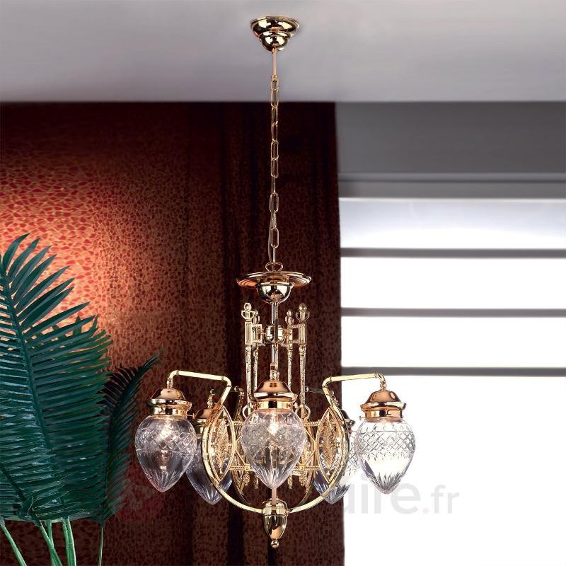 Lustre impressionnant BUDAPEST, 5 lumières - Lustres classiques,antiques