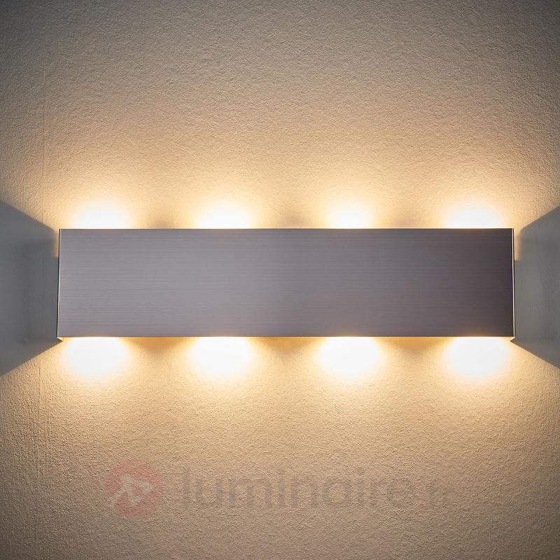 Applique LED carrée Enja en métal - Appliques LED