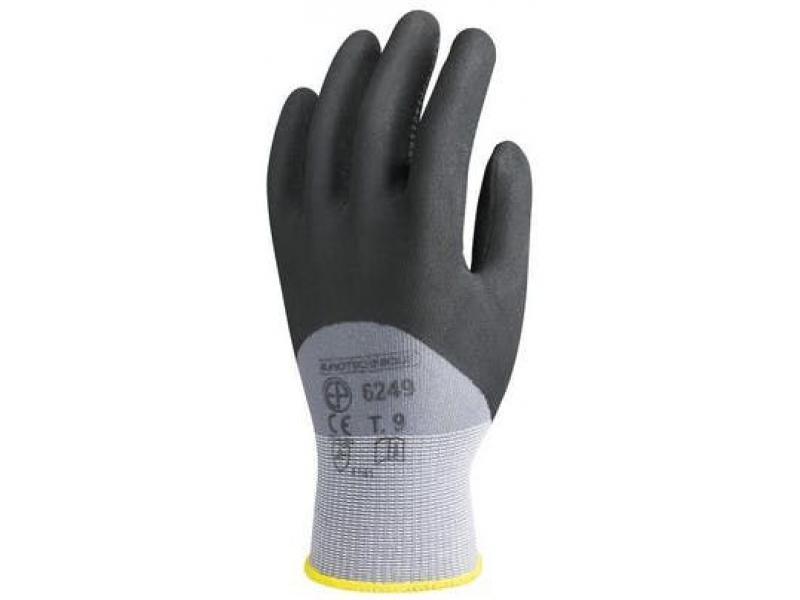 Gants nylon gris paume enduite avec picots Réf. : PG6250 - Protection individuelle EPI