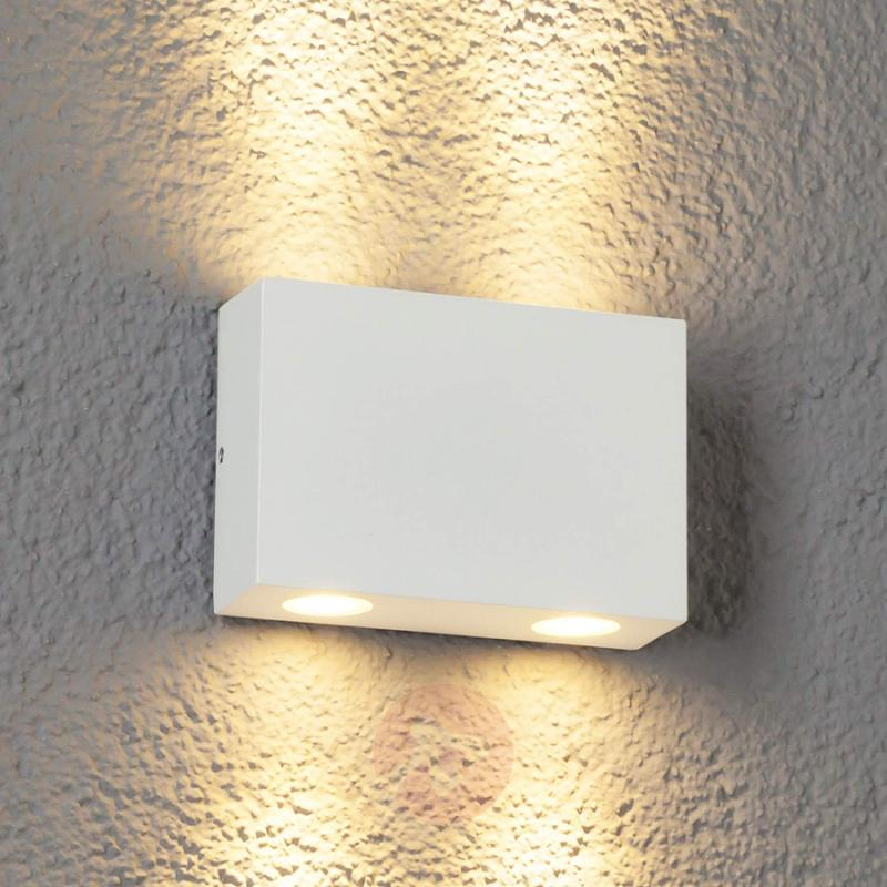 4-bulb Henor LED outdoor wall light in white - outdoor-led-lights
