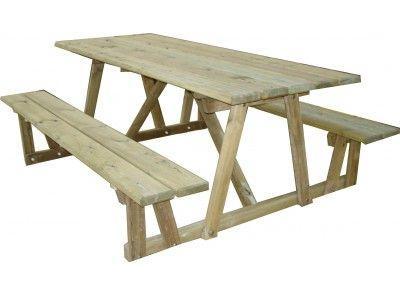 Table Banc Poitevine 2 M - Tables De Pique-Nique