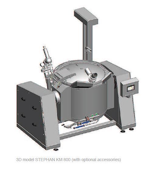 Cuiseur mélangeur cutter vapeur sous vide - STEPHAN KM800