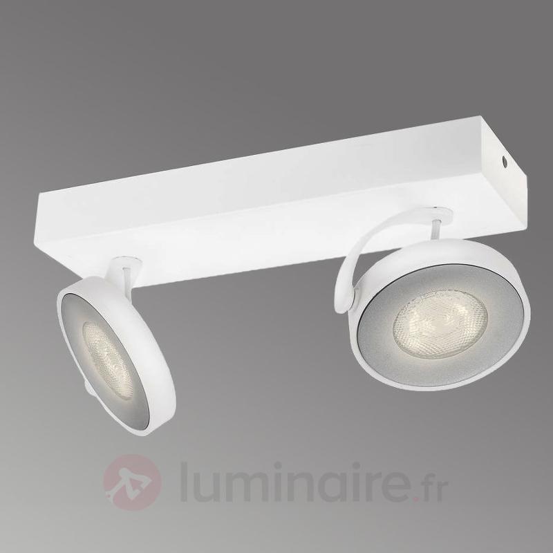 Spot LED Clockwork blanc à deux lampes - Spots et projecteurs LED