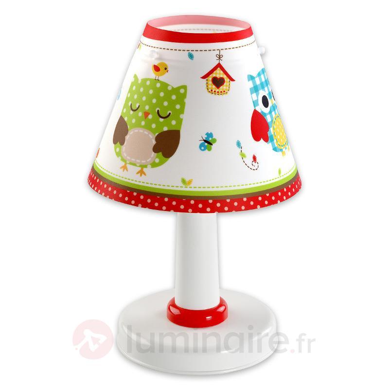Adorable lampe à poser Hiboux pour chambre d'enfan - Chambre d'enfant