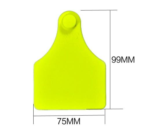 99*75mm Cow /Cattle TPU ear tag with Laser Printing for dair - cattle/cow ear tag