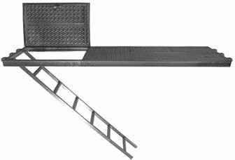 Plataforma de Acero con Escalera - null