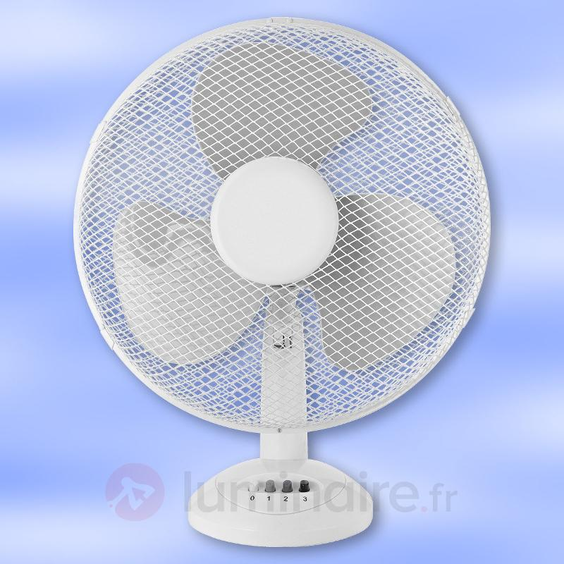 Ventilateur de table Stratos blanc 40 cm - Ventilateurs à poser ou sur pied