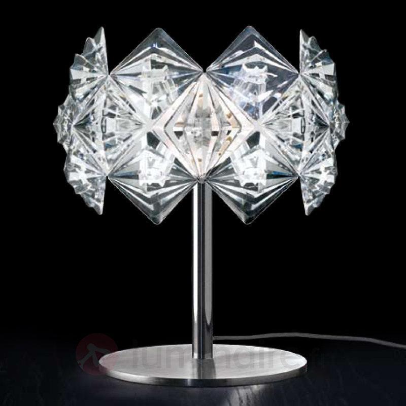 Lampe à poser PRISMA avec abat-jour scintillant - Lampes de chevet