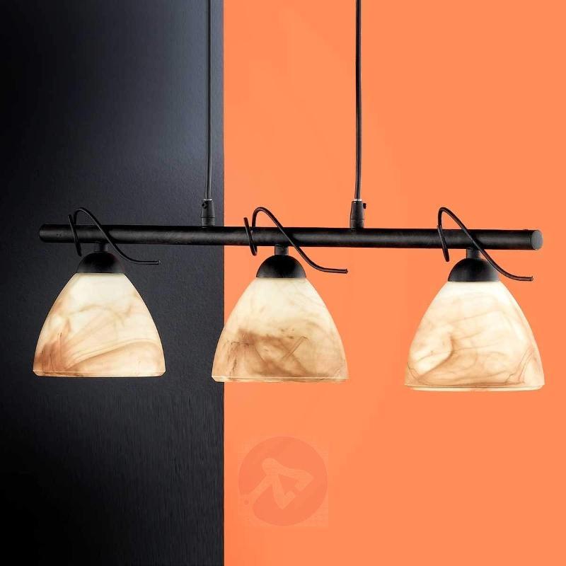 Cottage Beam Pendant Light Three Bulbs - Pendant Lighting