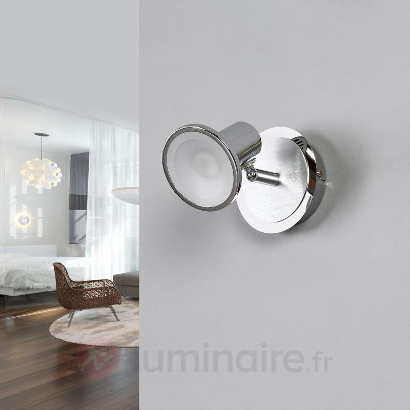 Spot LED moderne Charley, chromé - Appliques chromées/nickel/inox