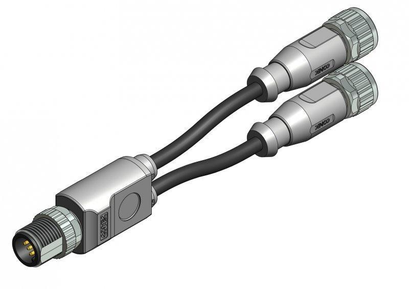 M8x1/M12x1 Duo-Splitter - M8x1/M12x1 Duo-Splitter