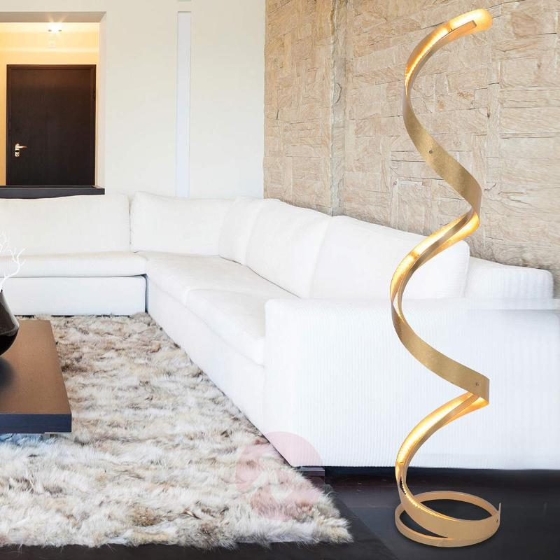 Spirale - dimmable LED floor lamp with gold finish - Floor Lamps