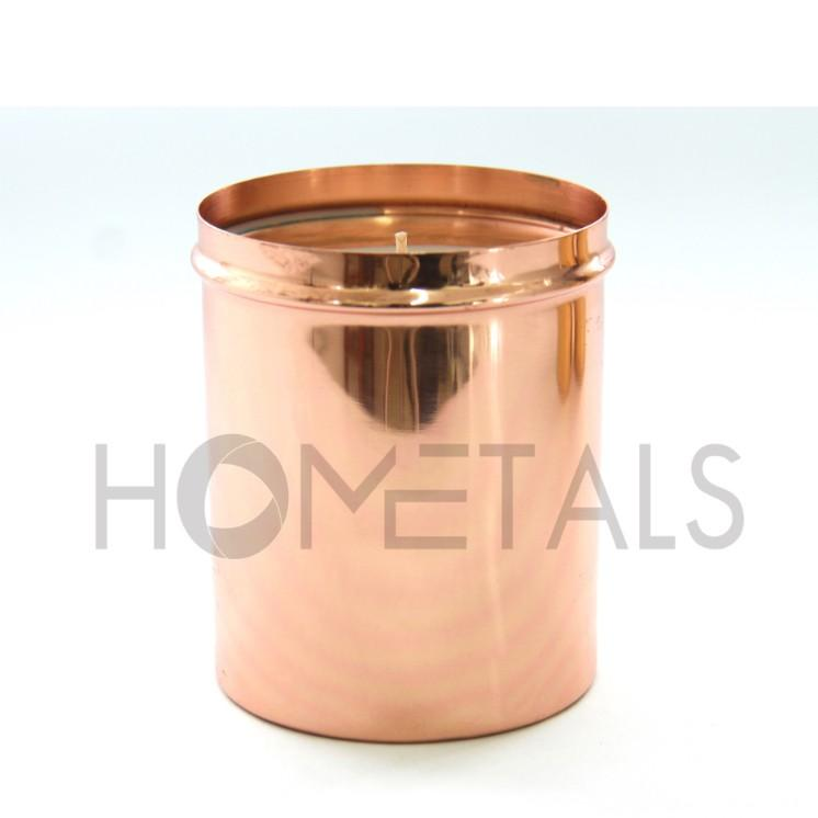 Scented Candles in Copper Containers with Lid - Candle containers with lid