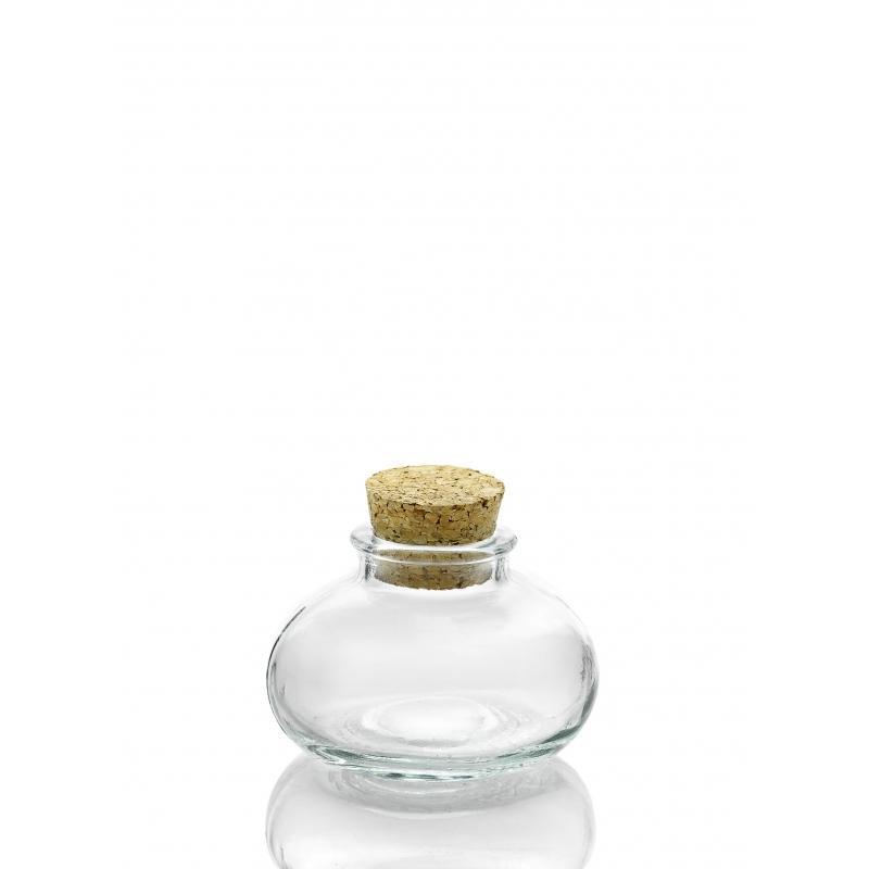 24 Mini bocaux CALABAZA 90 ml avec bouchon en liège - Mini bocaux