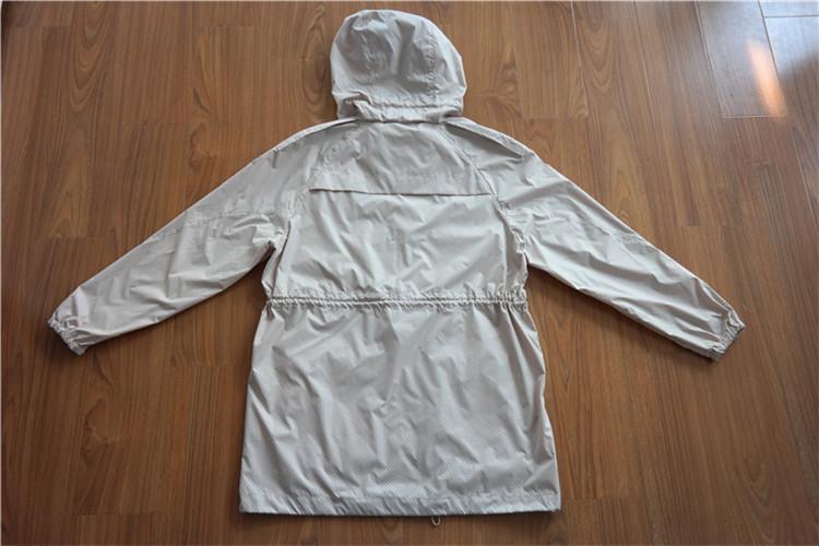 Women's hooded wind coat of memory cloth - YH16-13-WC