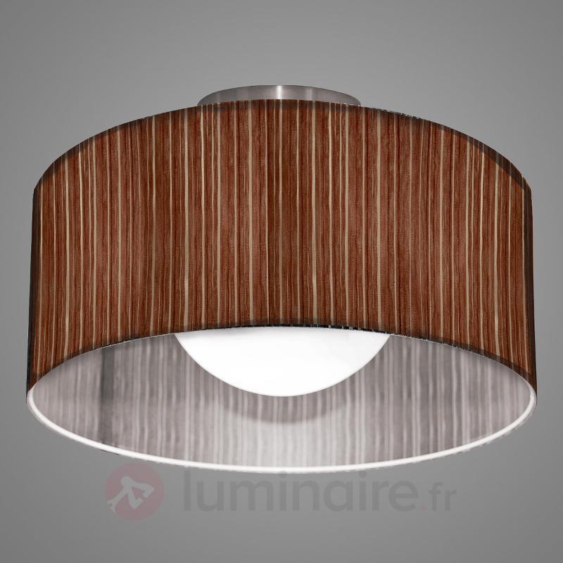 Plafonnier Ganzo brun Ø 60 cm en organza - Tous les plafonniers