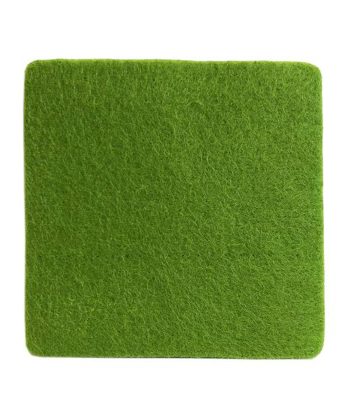 Felt Coaster - Square Beer Mat in green