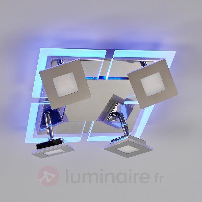Plafonnier carré à quatre LED Namika - Plafonniers LED