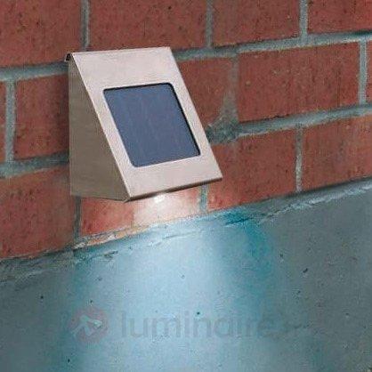 Spot mural solaire Shine en inox LED - Appliques solaires