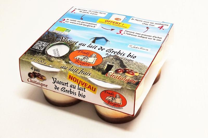YAOURT AU LAIT DE BREBIS BIO CHÂTAIGNE (PACK 4 X 100GRS) - Produits laitiers