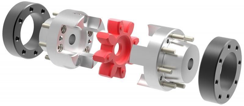 Elastomer coupling ESM-A - conical clamping hub on both sides