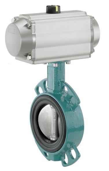 GEMÜ 481 - Затвор поворотный дисковый с пневмоприводом