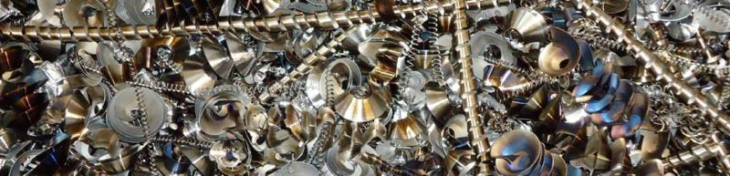 Metal swarf shredding - application areas