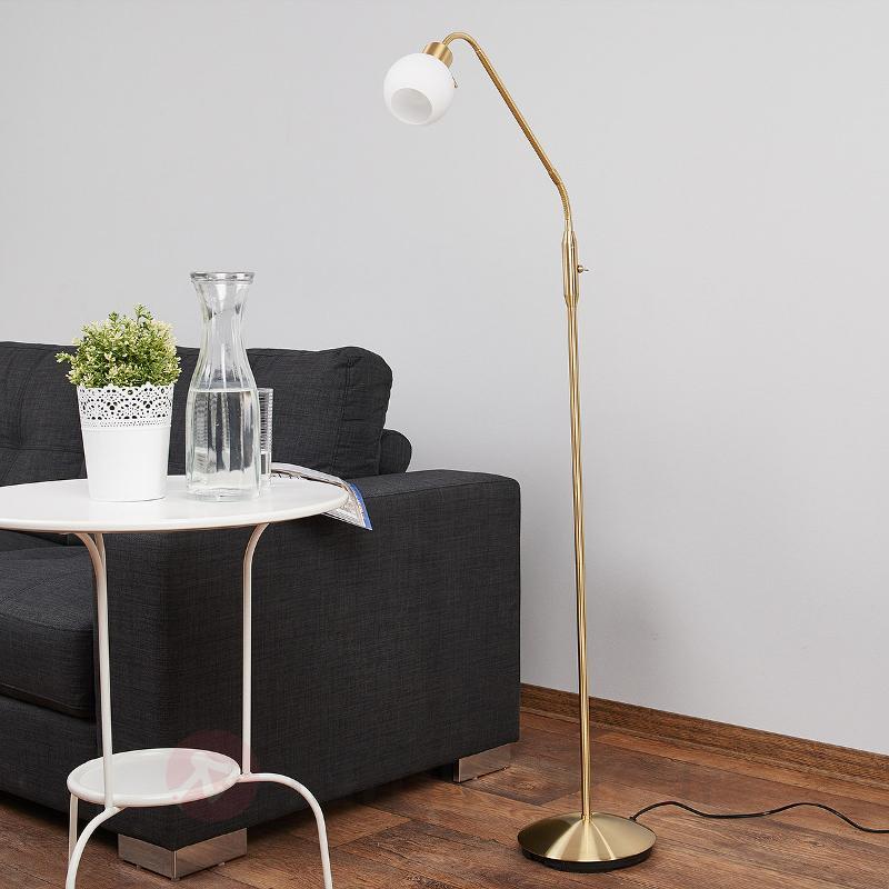 Elaina - lampadaire LED, couleur laiton - Lampadaires LED