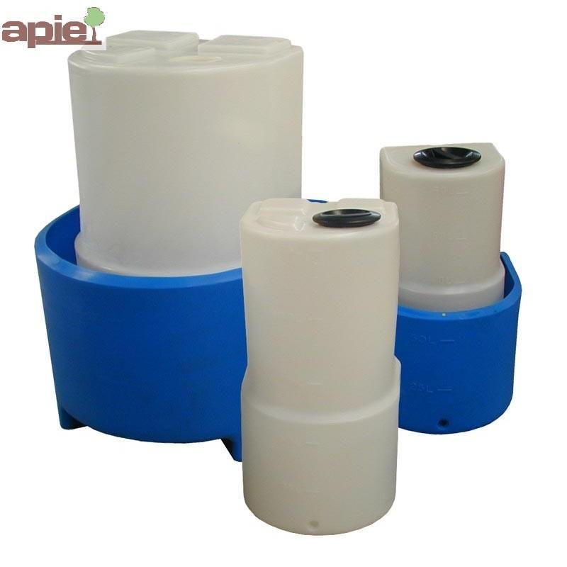 Cuve de dosage verticale 60 L, à dos plat - Référence : CUVE/DOSAGE/DVI0060