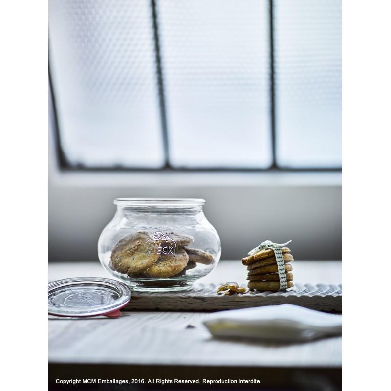 4 vasi in vetro Weck Fête® 1062 ml  - con coperchi in vetro e (graffe non incluse)