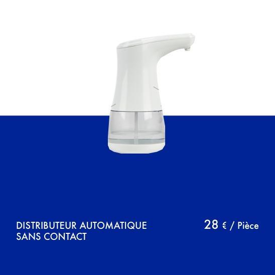 Distributeur de gel hydroalcoolique - Distributeur automatique sans contact