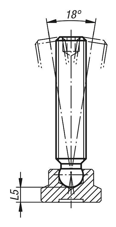 Vis sans tête à bout sphérique - Vis à patin et patins