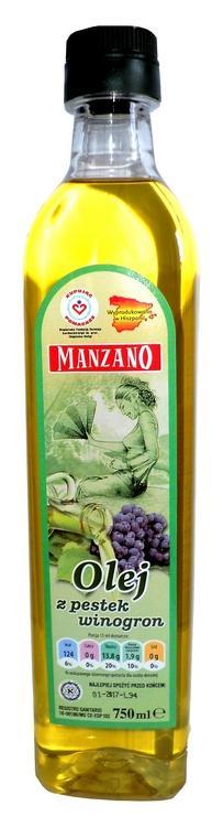 Olej z pestek winogron 750ml Pet marasca - olej z pestek winogron