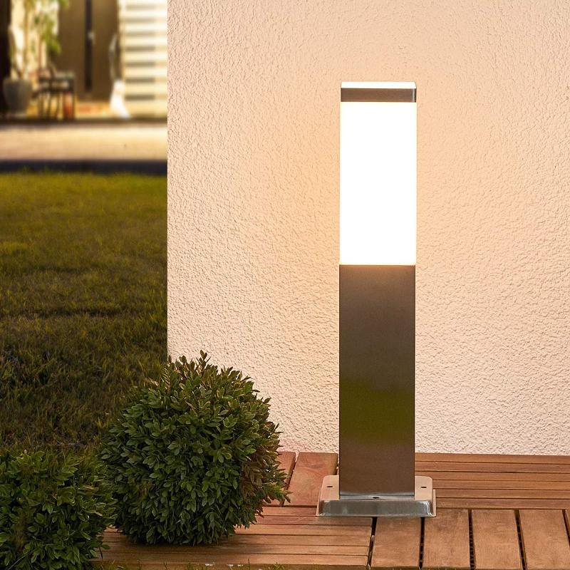 Pillar light Lorian made from stainless steel - Pillar Lights