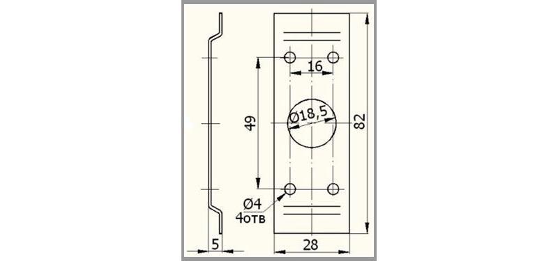 Promix-ad.br.04 Bracket - Accessories for locks