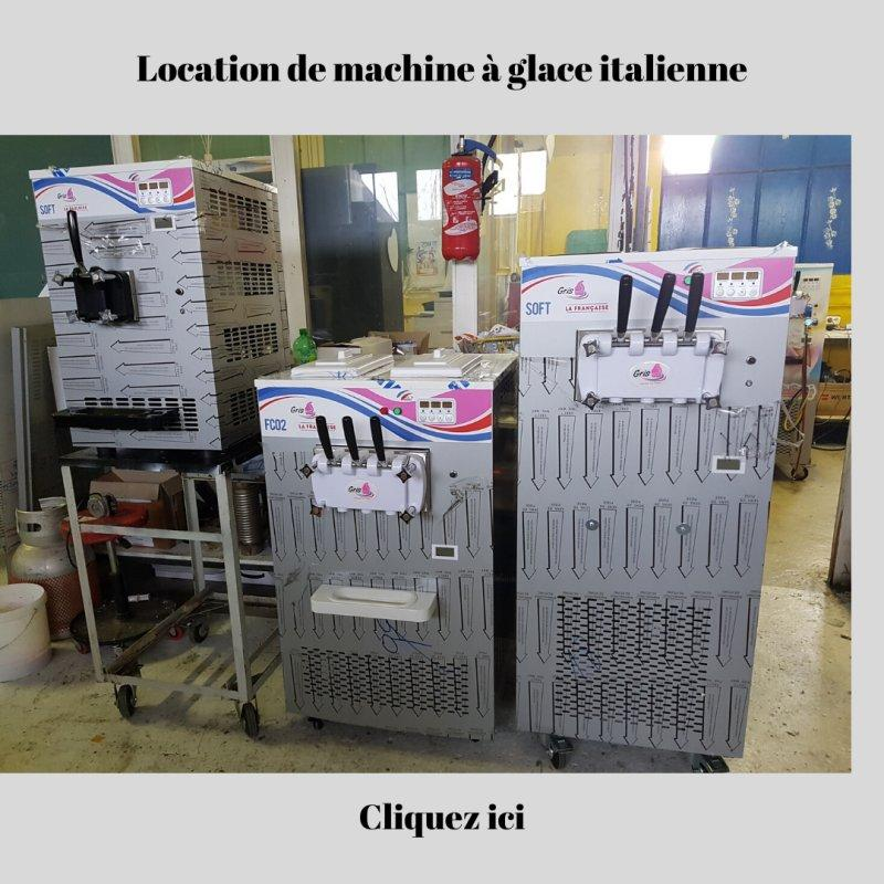 Machine à glace italienne sur roulettes - made in France